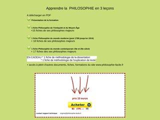 Apprendre la PHILOSOPHIE en 3 leçons à télécharger 3 PDF de présentation des grandes périodes philosophiques + 50 fiches philosophes