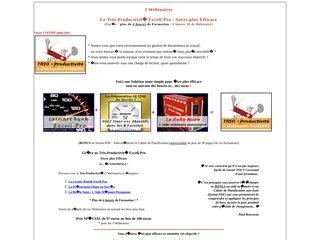 Le Trio-Productivité : 3 Webinaires Efficaces Procurez-vous le Trio-Productivité (3 Webinaires pour augmenter votre efficacité) et épargnez : 1- Lecture Rapide Excell-Pro 2- Préparation Ultime au Succès (Fixer vos Objectifs) 3- La Boîte Noire !