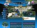 Détails : www.camping-ardeche-midi.fr pour un séjour à Vallon Pont d'Arc au bord de l'eau