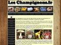 Aperçu du site Les champignons.fr