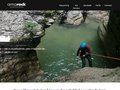 screenshot http://amarock.fr Escalade, canyon, canyoning, via ferrata, parcours