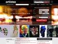 screenshot http://www.artisteo.com/ Artisteo : réseau d'artistes et d'exposants d'art