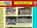 screenshot http://www.axitech.fr Signalétique et signalétique pédagogique