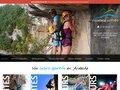 screenshot http://www.escapade-loisirs.com Canoé en ardèche