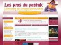 screenshot http://www.lesprosdupestak.com Annuaire des artistes jeune public