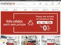 screenshot http://www.matelpro.com Matelpro, vente en ligne de literie et de matelas