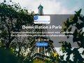screenshot http://www.paris-domiciliation.fr Domiciliation commerciale à paris