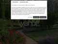 screenshot http://www.warot-paysagiste.com Warot parcs et jardins jardiniers paysagistes 84