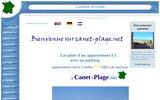Canet Plage en Roussillon  : Location d'un appartement F3 à louer a Canet en Roussillon en bordure de mer