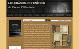 Chassis de fenetres - XVe - XVIIIe siecle