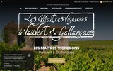 Les maîtres vignerons  de la cave de Galliargues vente vins blans chardonnais sauvignon vente vins rosés  syrah et cinsault vin en vrac et bouteilles