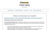 Les vélos électriques de la marque Tomy Bike