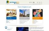 screenshot http://anglais.lyon-langues.com/ école d'anglais à Lyon