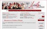 screenshot http://arthemis-musique.fr accueil sur arthemis-musique.fr
