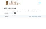 screenshot http://beniermonhorloger.com horloger réparateur
