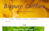 screenshot http://biopurecoiffure.com BioPure Coiffure : salon de coiffure naturelle à Sanary