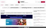 screenshot http://cimbat.fr/ agence web spécialisée dans les métiers du bâtiment