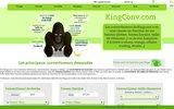 screenshot http://convertisseur.kingconv.com convertisseur