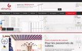 screenshot http://dcharby.com matériels de cuisson