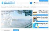 screenshot http://eau-gelifiee.fr Spécialiste pour l'eau gélifiée et l'épaississant