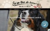 screenshot http://enuntourdelaisse.fr éducation canine
