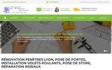 screenshot http://fermetures-protections.fr/ Installation de menuiseries, volets roulants et portes de garage