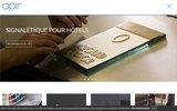 screenshot http://fr.apir.com Apir : Produits et accessoires pour les hôtels