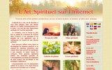 screenshot http://fr.spiritual-art.info/ l'art spirituel sur le web