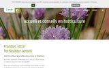 screenshot http://frandon-horticulture.fr/ frandon horticulture vente de fleurs