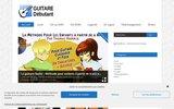 screenshot http://guitaredebutant.info Guitare Débutant