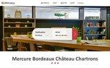 screenshot http://hotel-bordeaux-chateau-chartrons.fr hôtel bordeaux mercure château chartrons 4 étoiles