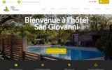 screenshot http://hotel-san-giovanni.com/ Hôtel de charme en Corse avec piscine