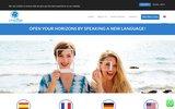 screenshot http://language-online.org/fr/ école de langues en ligne
