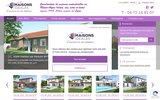 screenshot http://maisons-ideales.com/ Constructeur maisons Idéales