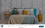 screenshot http://megatoiles.fr personnalisation de tableaux décoratifs