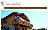 screenshot http://petit-charpentier.fr le petit charpentier propose des charpentes à l'ancienne en bois équarris