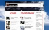 screenshot http://peufrider.com peuf rider l'esprit snowboard