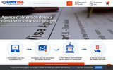 screenshot http://rapidevisa.fr RapideVisa