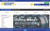 screenshot http://remorques-discount.com/ vente d'accesoires et pièces détachées remorques