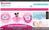 screenshot http://sucette-perso.fr tétines