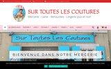 screenshot http://surtouteslescoutures.fr pour les fadas de coutures et loisirs créatifs