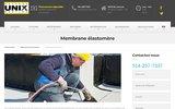screenshot http://toitureunix.com/toit-membrane-elastomere/ Membrane élastomère Toiture Unix