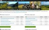 screenshot http://vtt.revermont.bike/ Circuits VTT dans le Revermont