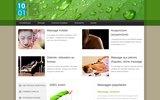 screenshot http://www.1001massages.com guide du massage et du bien-être