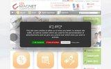 screenshot http://www.123-magnet.com magnet publicitaire et faire part magnet