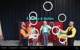 screenshot http://www.a-balles-et-bulles.fr spectacle de cirque