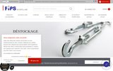 screenshot http://www.accastillage-fips.fr fips: spécialiste du câble en acier et en inox