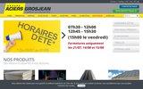 screenshot http://www.aciersgrosjean.be/ acier grosjean s.a. produits en acier