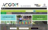 screenshot http://www.acodis.com acodis : équipement pour les collectivités et les entreprises