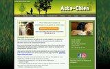 screenshot http://www.acte-chien.com/ éducation canine